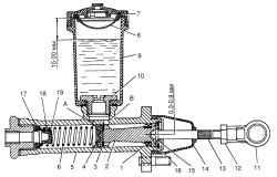 Главный цилиндр привода выключения сцепления