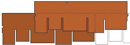 Схема укладки гонтов Катепал Амбиент