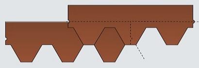 Схема черепицы Катепал Катрилли