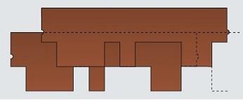 Схема черепицы Катепал Рокки
