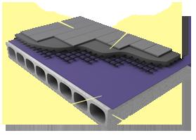 Применение материала «Brane D» в конструкции пола на бетонном основании