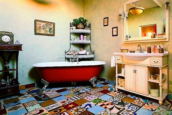 «Львиные лапы» ванны плюс смеситель в стиле модерн – здравствуй, гламурный бохо!