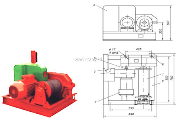 Лебедка электрическая ТЭЛ-1