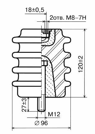 Изолятор И4-80 II УХЛ2