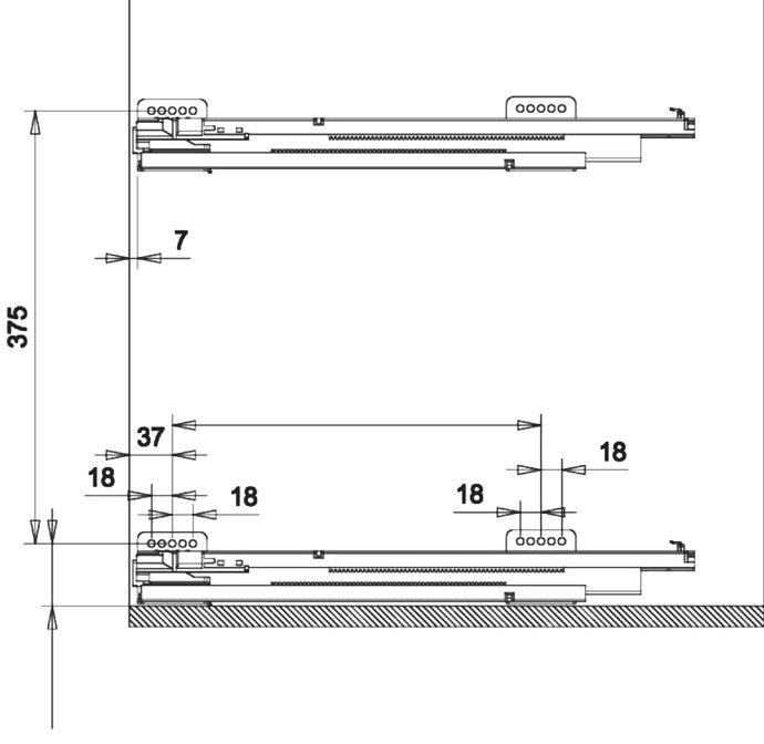 Бутылочница Sigma Basic 150 нижний шкаф частичное выдвижение глубина 500 мм, высота 480 мм, частичное выдвижение