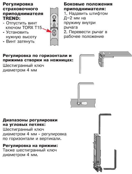 Инструкция по регулировке фурнитуры MACO, регулировка окон
