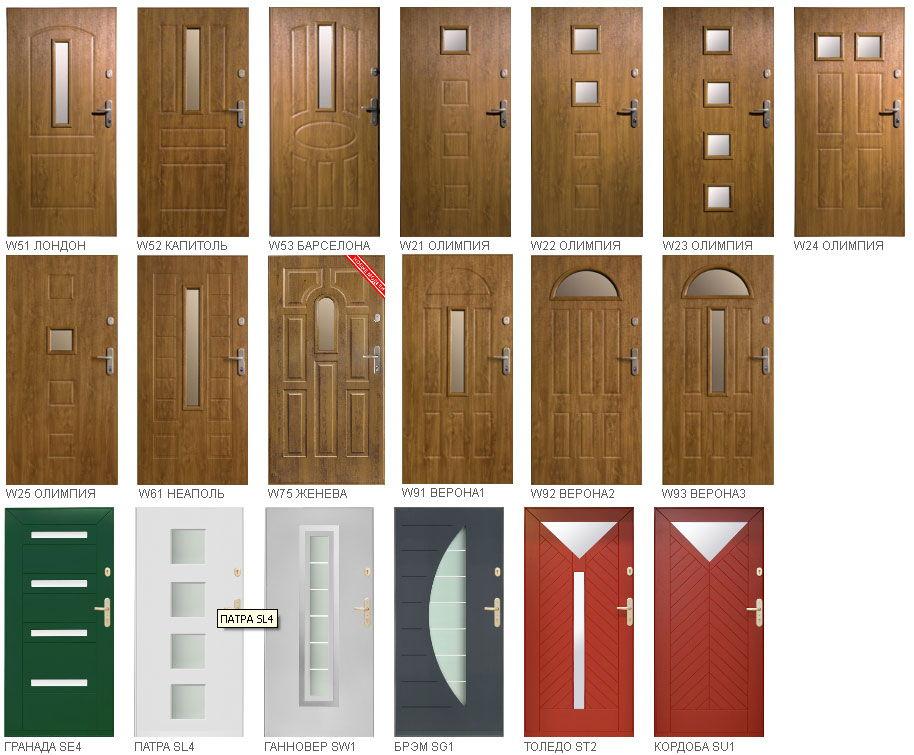 Варианты штамповки декоративных панелей для металлической двери Gerda GSX20