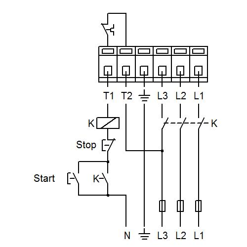 Схема подключений насосов UPS 50-60/2 F