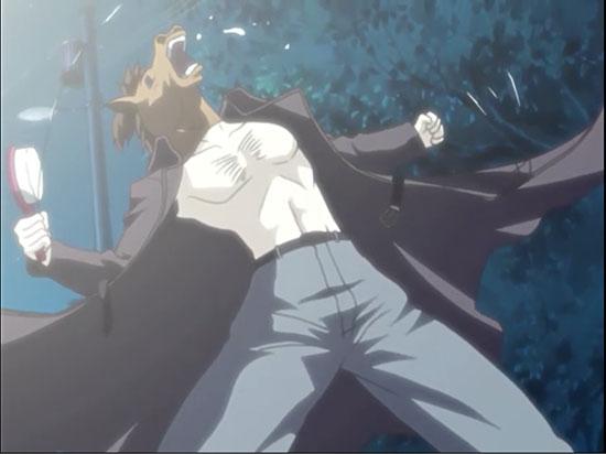 Человек-конь с расческой из аниме-сериала