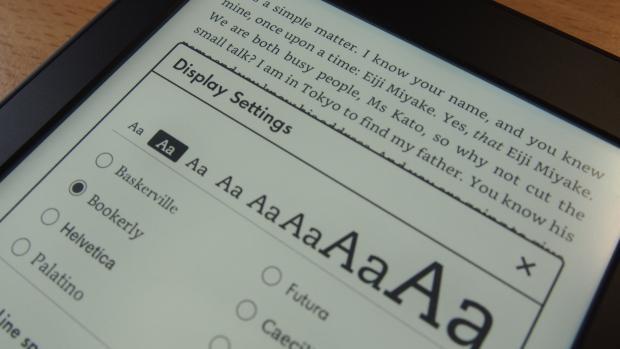 Настройка шрифтов Amazon Kindle Paperwhite (2015)