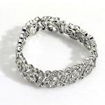 Серебряный с родиевым покрытием браслет с 150 бриллиантовыми вставками Мэрилин Монро