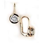 Золотые серьги с бриллиантами Мэрилин Монро