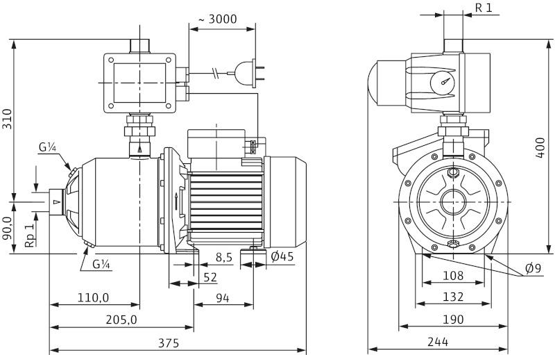 Насос Wilo-MultiPress FMP304 EM/2