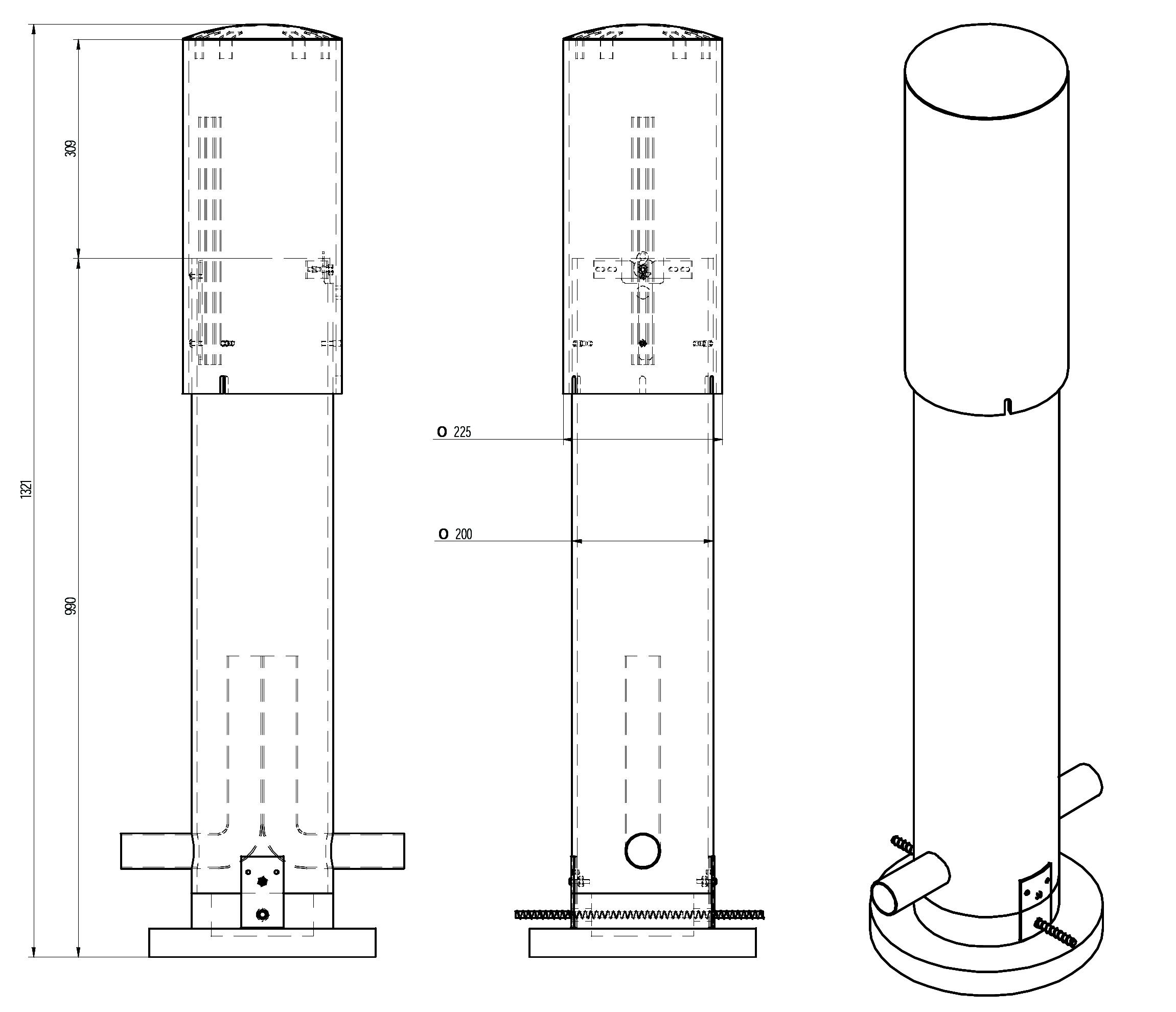 SR 100 P (fi 200) диаметром 200мм и высотой 1321мм