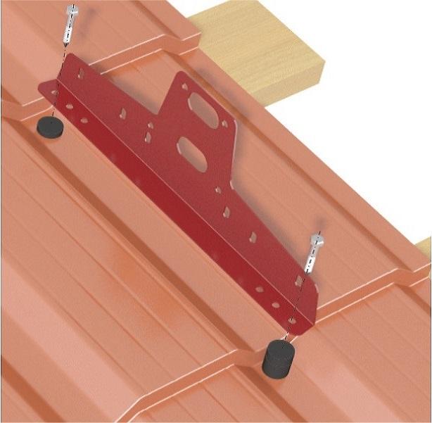 Установка кронштейна снегозадержателя на металлочерепицу с шагом 400 мм