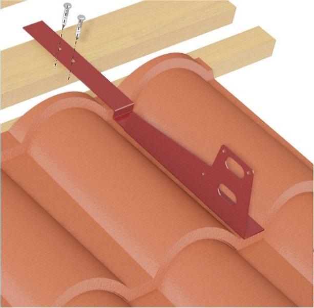 Установка кронштейна снегозадержателя на композитную металлочерепицу