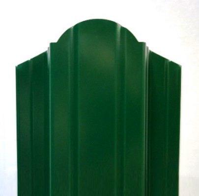 евроштакетник ― зеленый 6005