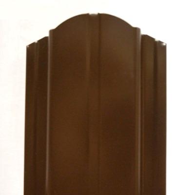 евроштакетник ― коричневый 8017