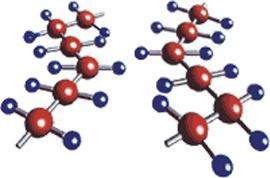 Цепочки молекул полиэтилена
