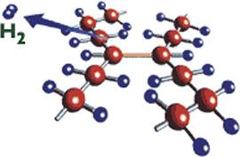 Объединение цепочек молекул углерода и водорода в сеть