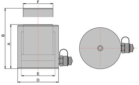 Домкрат грузовой гидравлический с пружинным возвратом штока схема
