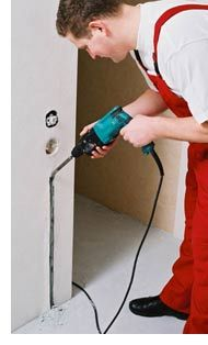 Теплый пол штроб стены Эксон нагревательный кабель Ekson heating Cable Мат Снеготаяние