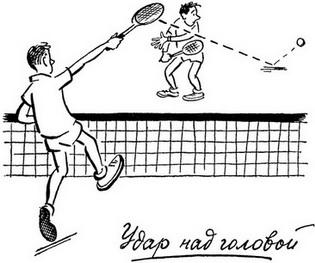 теннис удар над головой