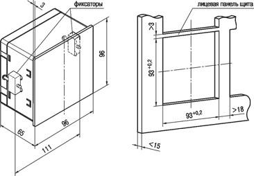 Мультиметр ИМС-Ф1. Установочные размеры