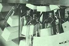 Положение бутылок в ротере машины McBrady Серии ORBIT