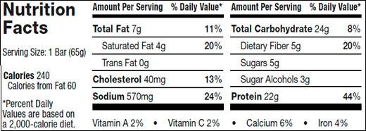 Supplement-Facts-Nitro-Tech-Crunch-Bar