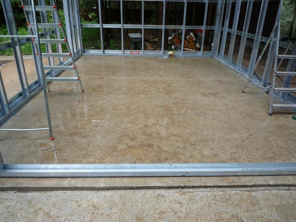 фундамент гаража ― плита