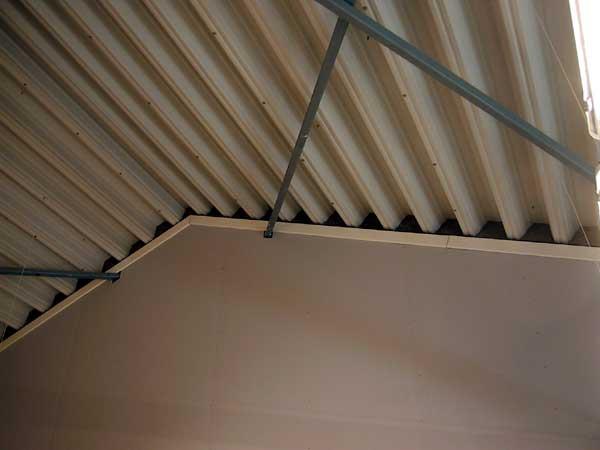 крыша из несущего профлистаа