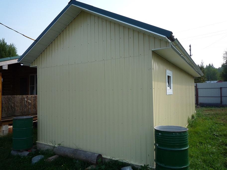 сборный гараж на участке