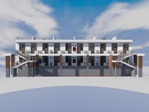 Проект двухэтажной гостиницы галерейного типа