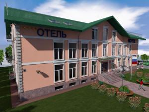 Главный фасад гостиницы