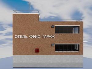 Боковой фасад гостиницы