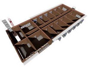 План 1 этажа гостиницы