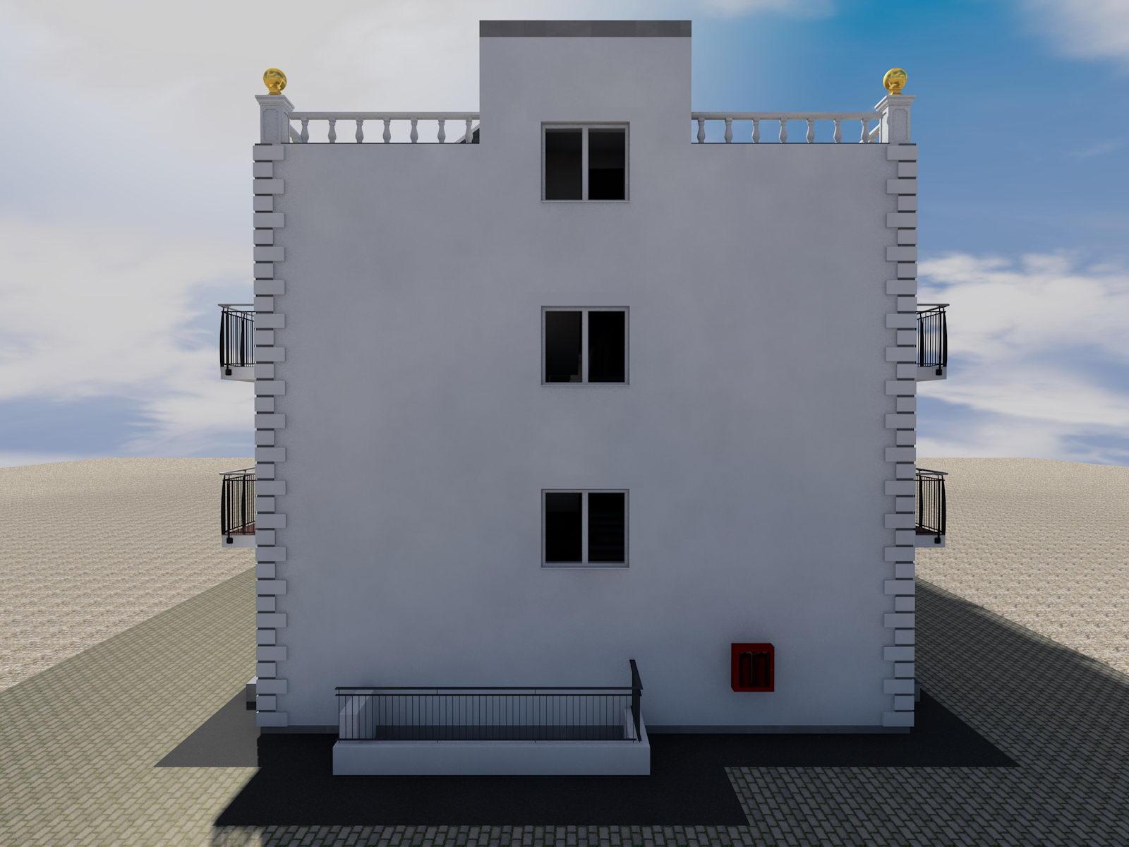 Готовый проект двухэтажной гостиницы - план второго этажа