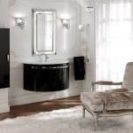 Черная мебель для ванной комнаты фото