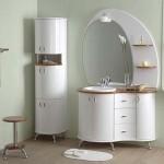 Белая мебель для ванной комнаты фото