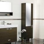 Коричневая мебель для ванной комнаты
