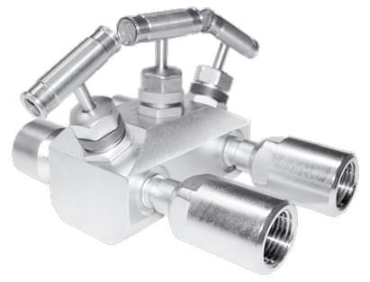 Трехвентильный клапанный блок серии Вх