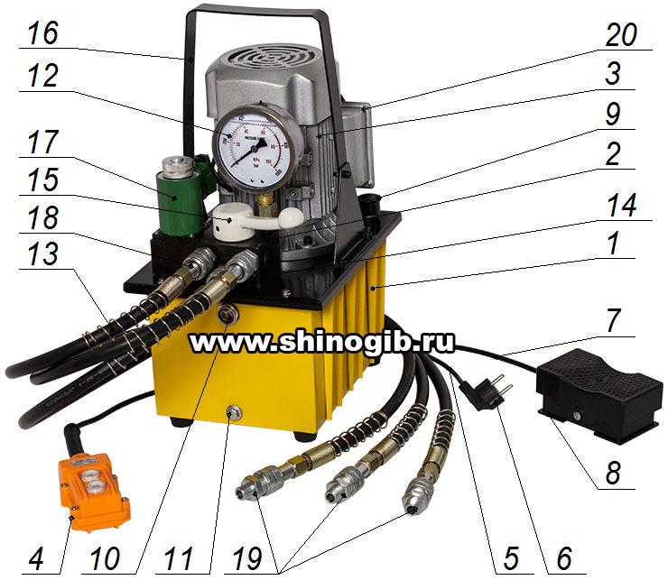 Маслостанция для трех инструментов - МГС 700-0.8П-Э-3