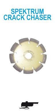 алмазный диск отрезной сегментный SPEKTRUM CRACK CHASER для старого бетона, для ручной пилы. Диаметр 125 мм
