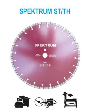 алмазный диск сегментный SPEKTRUM ST/TH для старого бетона с усиленным армированием. Для швонарезчика. Диаметр 350, 400, 450 мм