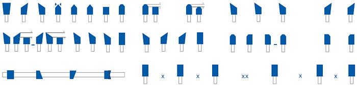 Станок для заточки дисковых пил мод. AL-805 UT.MA (Италия), типы затачиваемых зубьев
