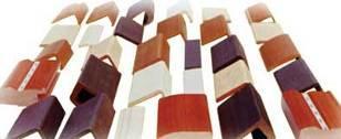 Станок для облицовывания погонажных изделий WoodTec 300B, образцы получаемых изделий