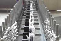 Станок для облицовывания погонажных изделий WoodTec 300B, подающие транспортные ролики