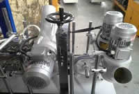 Станок для облицовывания погонажных изделий WoodTec 300B, узел очистки пыли