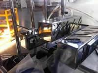 Станок для облицовывания погонажных изделий WoodTec 300B, ИК лампы подогрева заготовок